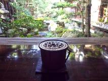 Japanese style garden with perfumery Royalty Free Stock Image