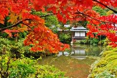 Japanese Style Gardens. Japanese garden in Nikko, Japan Stock Photo