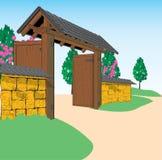 Japanese-style gate Stock Image