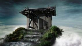 Japanese-style gate Royalty Free Stock Photo