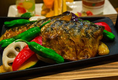Japanese style grilled fish Stock Photos
