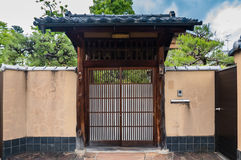 Japanese style house door Stock Images