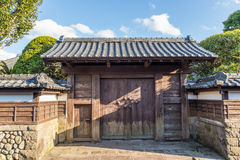 Japanese style house gate and fence Royalty Free Stock Image