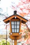 Japanese style house shaped lamp Royalty Free Stock Image