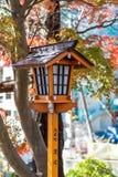 Japanese style house shaped lamp Stock Photography