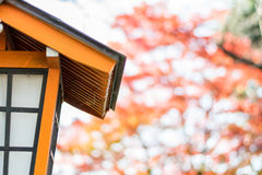 Japanese style house shaped lamp Royalty Free Stock Images