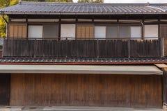 Japanese style house stock photo