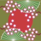 Japanese style illustration. On green background Royalty Free Stock Photo
