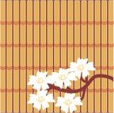 Japanese style illustration. On bamboo background Stock Image