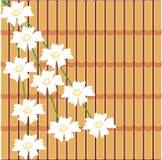Japanese style illustration. On bamboo background Royalty Free Stock Photo