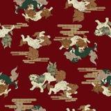 Japanese style lion pattern Stock Photography