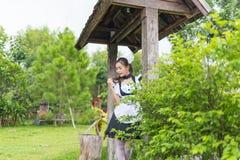 Japanese style maid cosplay cute girl. S Stock Photos