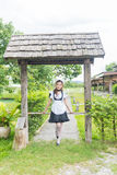 Japanese style maid cosplay cute girl Royalty Free Stock Image