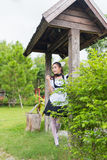 Japanese style maid cute girl Royalty Free Stock Photography