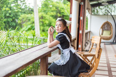 Japanese style maid cute girl Stock Photography