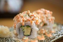Japanese style maki sushi Stock Images