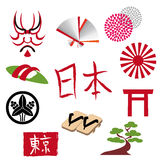 JAPANESE STYLE. It is the material of the icon of Japan Royalty Free Stock Image