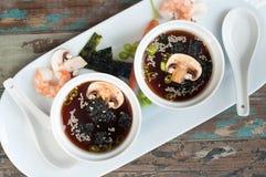 Japanese style miso soup Stock Image