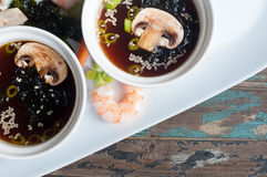 Japanese style miso soup Stock Photography
