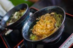 Japanese style noodle ramen set Stock Images