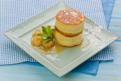 Japanese Style Pancakes royalty free stock photos