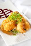 Japanese style Panko battered prawns Stock Photos