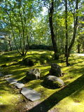 Japanese style park in Helsinki. Royalty Free Stock Images