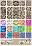 Japanese Style Pattern_eps Stock Photos