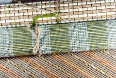 Japanese style place mats. Japanese style place mats, natural materials Royalty Free Stock Photo