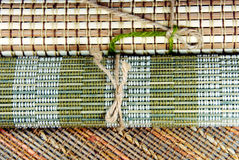 Japanese style place mats. Japanese style place mats, natural materials stock photo