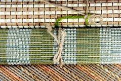 Japanese style place mats. Stock Photo