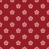 Japanese style plum blossom pattern Royalty Free Stock Image