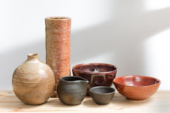 Japanese style pottery Royalty Free Stock Images
