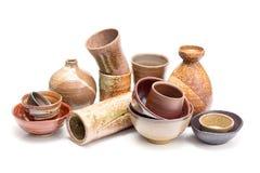 Japanese style pottery Stock Photography