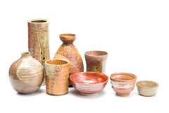 Japanese style pottery Royalty Free Stock Photo