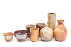 Japanese style pottery Stock Images