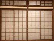 Door. Japanese style push-pull door stock photos