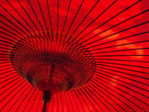 Japanese style red umbrella Royalty Free Stock Images
