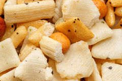 Japanese style rice crackers Royalty Free Stock Image