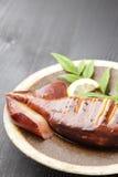 Japanese style roast squid Stock Image