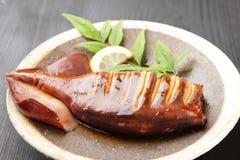 Japanese style roast squid Stock Photography