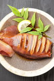 Japanese style roast squid Stock Photos