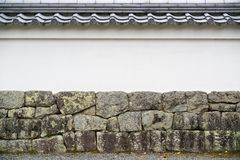 Japanese style roof and wall Royalty Free Stock Image