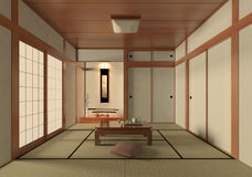 Japanese style room. A Japanese decorative style living room Stock Image