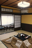 A japanese style room was fitted out in an inn in Amanohashidate (Japan) Stock Photo