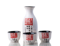 Japanese style Sake set for three person Stock Images
