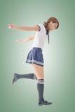 Japanese style school girl Stock Photos
