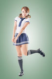 Japanese style school girl Royalty Free Stock Images