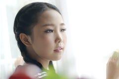Japanese style schoolgirl — close-up Stock Image