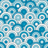 Japanese style seamless with circles Stock Photos